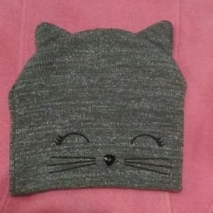 Justice Kitty Kat Sweater Cap SZ- One Size